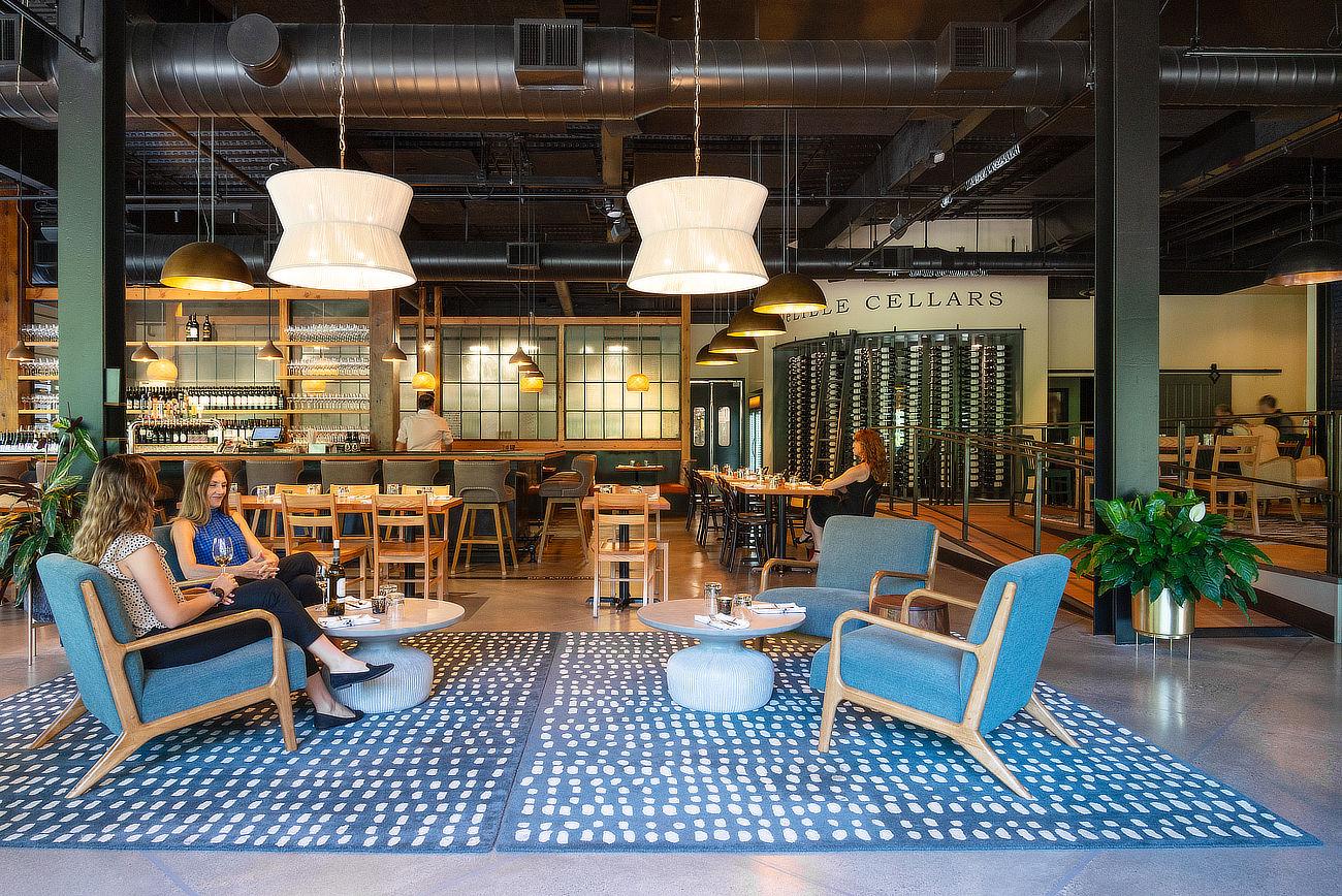 Spacious Lounge Seating Warm Lighting